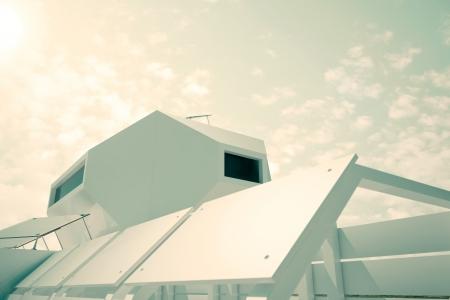 modules: Independent modular futuristic building  - computer generated image