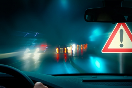 bad weather: bad weather driving - night driving - caution