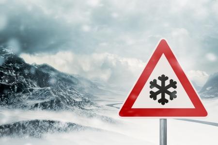 winter driving - snowfall