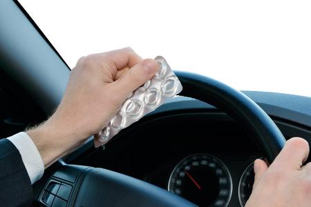 street drug: dangerous driving Stock Photo