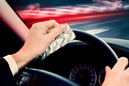 street drug: caution - dangerous driving