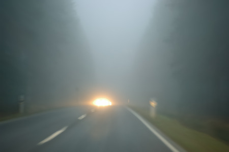 Dangerous driving -  poor view - oncoming traffic photo