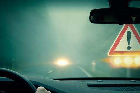 Caution - dangerous driving photo