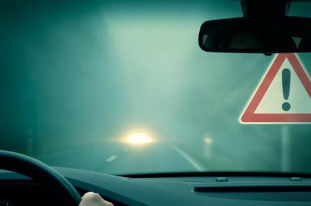 Caution - dangerous driving -  poor view photo