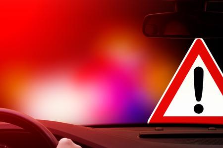 straat feest: s nachts rijden - Voorzichtigheid - straatfeest