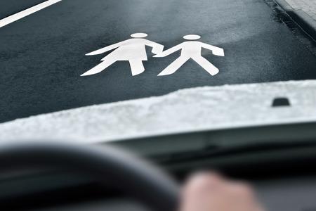 way to school  Foto de archivo