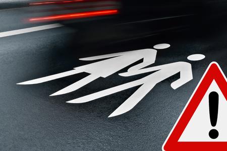 paso de peatones: camino a la escuela