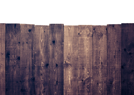 Wooden fence on a white background photo