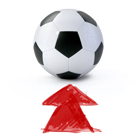 3D - Soccer ball on white photo