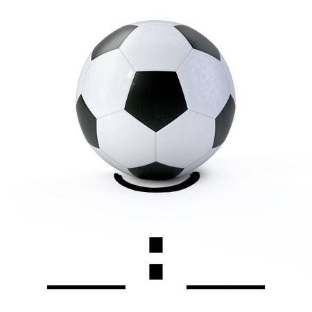 3D - Soccer ball on white photo