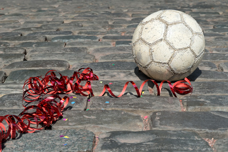 straat feest: Voetbal straatfeest