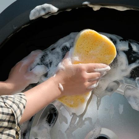 Car care - Washing a car by hand  photo