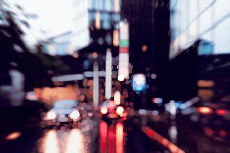 Slecht weer rijden in de binnenstad - zakenwijk