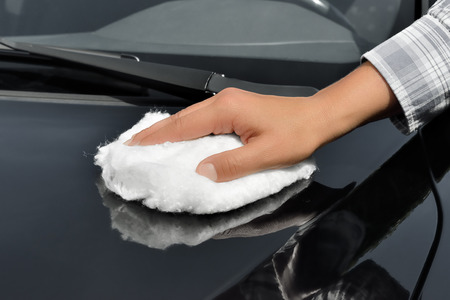 Car Care - Polishing a Car with Wadding Polish photo