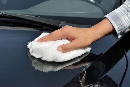 Car Care - Polishing a Car with Wadding Polish photo