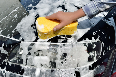 Car Care - Washing a Car with a Sponge by Hand photo