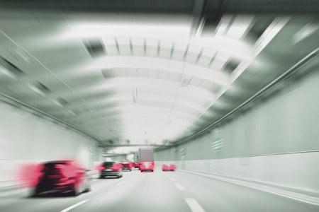 Commuter Traffic - Traffic Jam in an Urban Tunnel