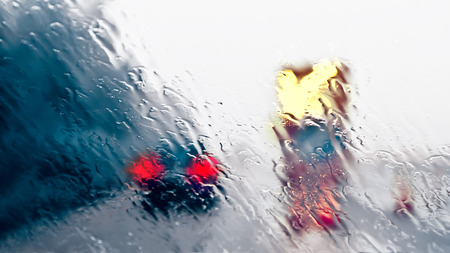 car safety: Bad Weather Driving - Construction Site