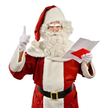 complaining: Santa Claus is Angry Stock Photo
