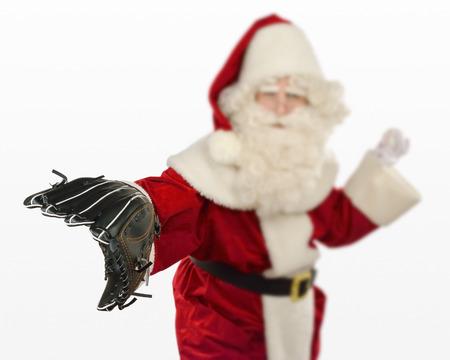 Santa Claus Playing Baseball photo