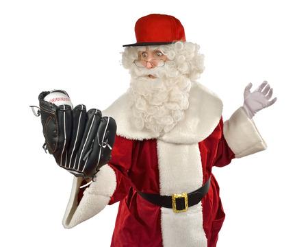 weihnachtsmann lustig: Weihnachtsmann spielen Baseball