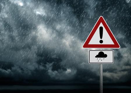 Caution - Heavy Rain Foto de archivo