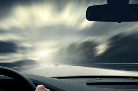 Fahren armen Ansicht Standard-Bild