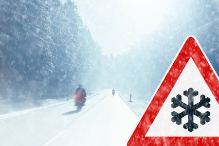 motorcycling: Winter Motorcycling - Caution