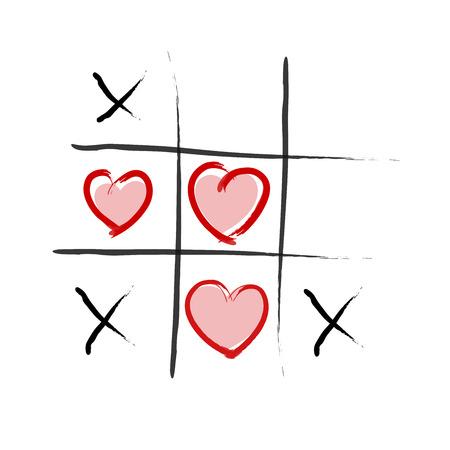wins: Tic Tac Toe - Love wins