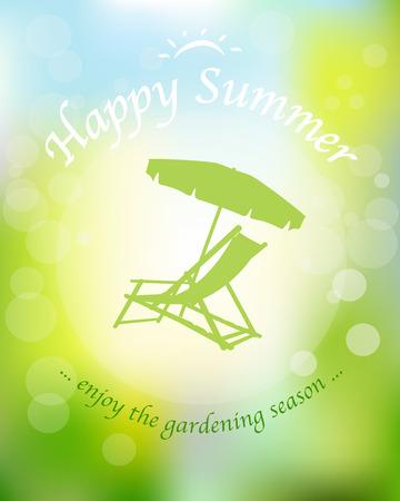 deckchair: Happy Summer ... enjoy the gardening season ...