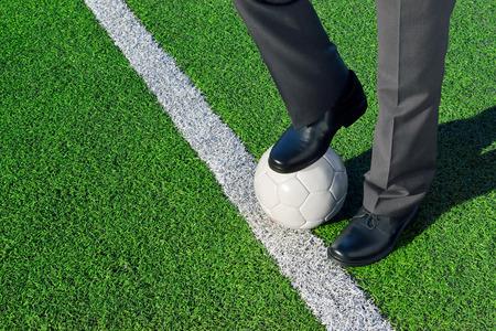 campo calcio: L'allenatore Archivio Fotografico