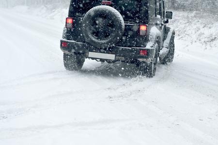 manejando: Winter Driving - riesgo de nieve y hielo - la deriva