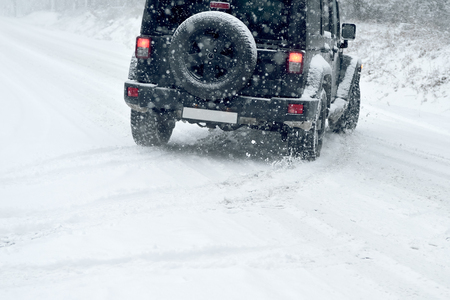 and in winter: Winter Driving - risk of snow and ice - drifting