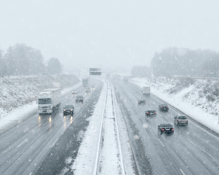 winter weather: Winter Driving - Commuter Traffic