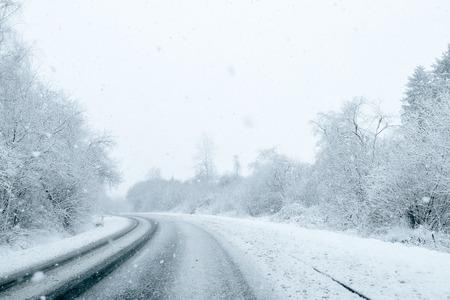 route: La conduite en hiver - Winter Road