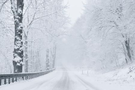 winter weather: Winter Driving - Winter Road
