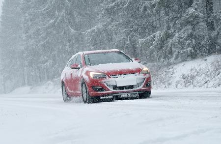 snow drift: Winter Driving - Winter Road