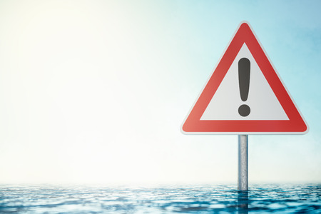 Caution Flood sign