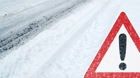 Winter Driving - Caution - Risk of Snow and Ice