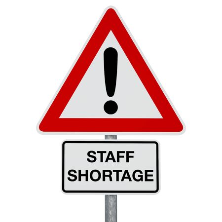STAFF SHORTAGE - digitally generated image - clipping path included Stok Fotoğraf