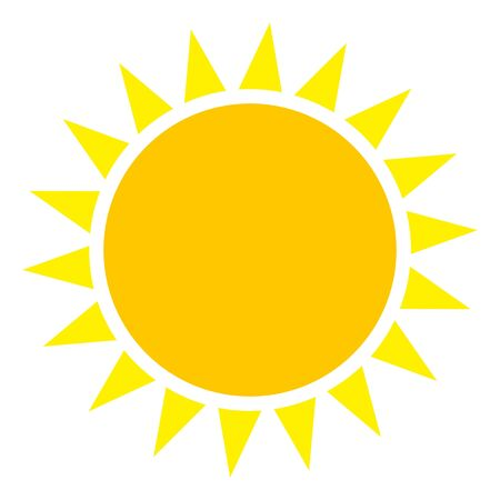 Vector sun flat pictogram. Vector pictogram style is a flat symbol sun on a white background. Ilustrace