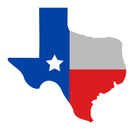 Texas map icon with flat style. Isolated vector texas map icon image, simple style. Ilustración de vector