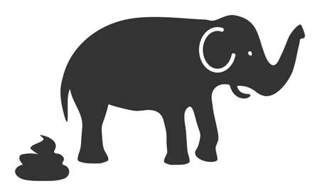 Elephant shit icon with flat style. Isolated raster elephant shit icon image, simple style. Banque d'images