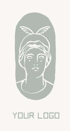 Ancient greek symbol, Greece god Hera vector logo