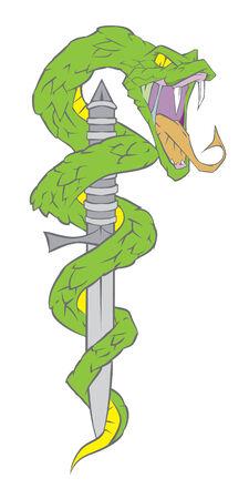 snake and dagger Illustration