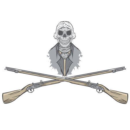 Revolutionary zombie,skeleton