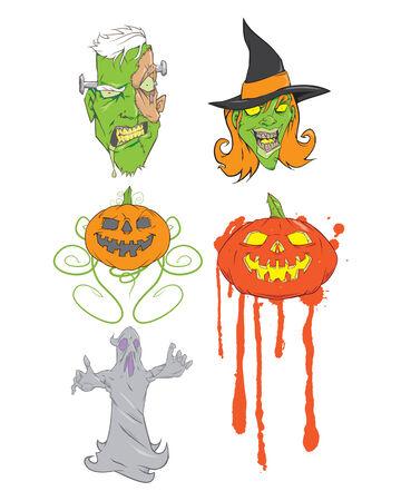 Halloween vectors Ilustração