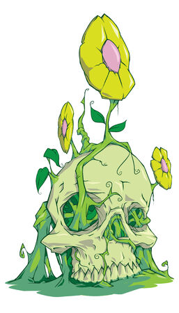natureal: Skull in ground