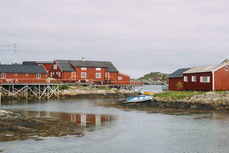 rorbu: Rorbu in Henningsvær, Lofoten, Norway   Rorbu is a traditional type of seasonal house used by fishermen