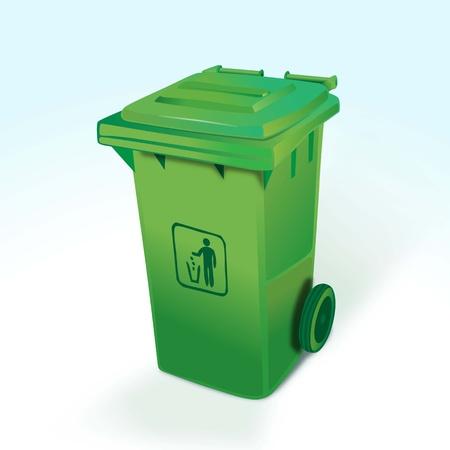 waste separation: Green Dumpster